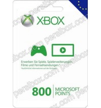 Xbox Live 800 Points Europe