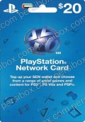 Playstation Netwrok Card $20 UAE