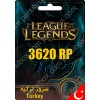 League Of Legends Gift Card 3620 RP Turkey