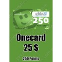 Onecard 25$