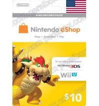 Nintendo Eshop 10$ Card - US