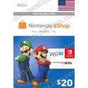 Nintendo Eshop 20$ Card - US