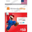 Nintendo Eshop 50$ Card - US