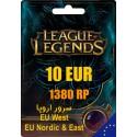 League of Legends 1380 RP EUW/EUNE