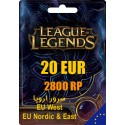 League of Legends 2800 RP EUW/EUNE