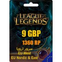 League of Legends 1360 RP EUW/EUNE