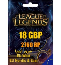خرید گیفت کارت 2760 RP بازی LoL