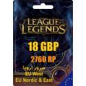 League of Legends 2760 RP EUW/EUNE