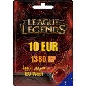 League of Legends 1380 RP EUW