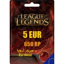 League of Legends 650 RP EUW