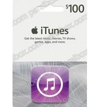 گیفت کارت آیتونز 100 دلاری