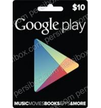 کارت گوگل پلی 10 دلاری
