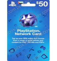 Playstation Network Card $50 UAE
