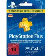 Playstation Network Plus Card 3 Months Germany