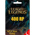 League Of Legends Gift Card 400 RP ترکیه