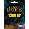League Of Legends Gift Card 10$ North America