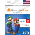 Nintendo Eshop 20$ Card - US